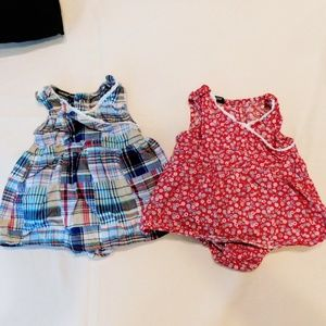 Newborn Girls dress with attached diaper cover